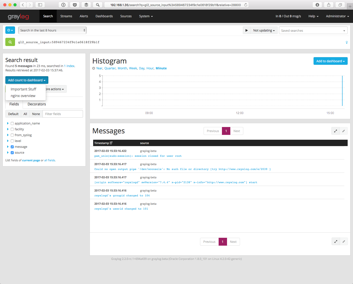 Create Your Dashboard — Graylog 2 3 0 文档